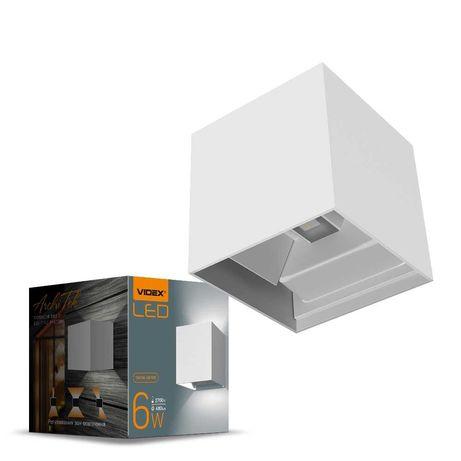 Светильник LED  архитектурный IP54 AR04 VIDEX 6W 2700K  Белый / Чёрный