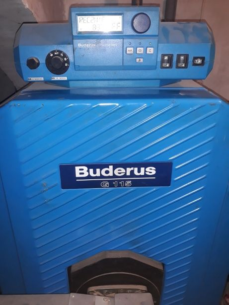Piec olejowy Buderus G115 pojemnik na wodę 100 l i na olej 1000 l