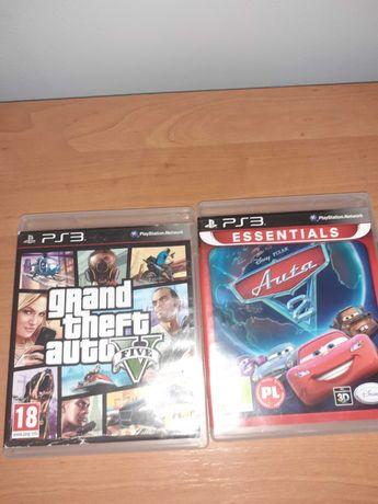 Dwie gry na ps3 GTA 5 i AUTA 2
