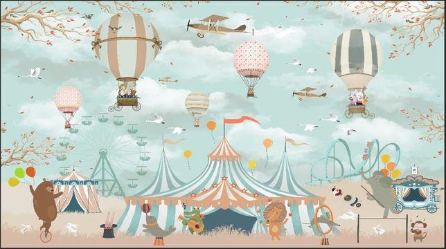 Фотообои в детскую 4,7 * 2,62 в наличии воздушные шары цирк