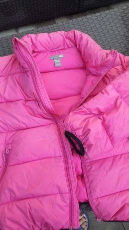 Kurtka pikowana H&M 134 różowa dla dziewczynki