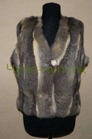 Теплая жилетка из натурального меха кролика Рекс в Запорожье 600 грн