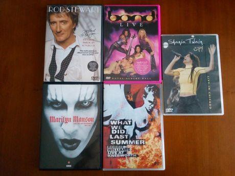DVDs Musica - Robbie Williams/ Shania Twain / Rod Stewart Etc