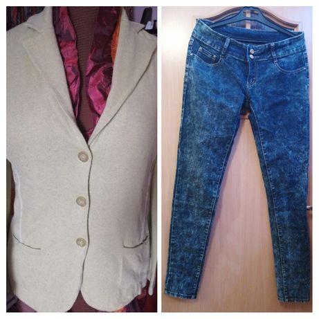 Żakiet marynarka sweter i jeansy r. M