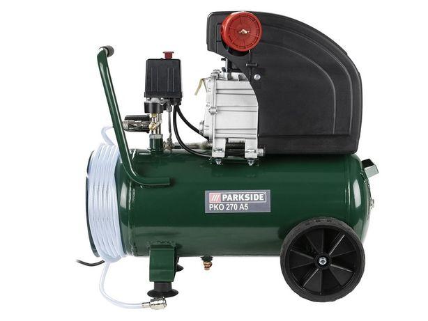 Nowy – kompresor 24l Parkside PKO 270 A5 – sprężarka olejowa 10 bar