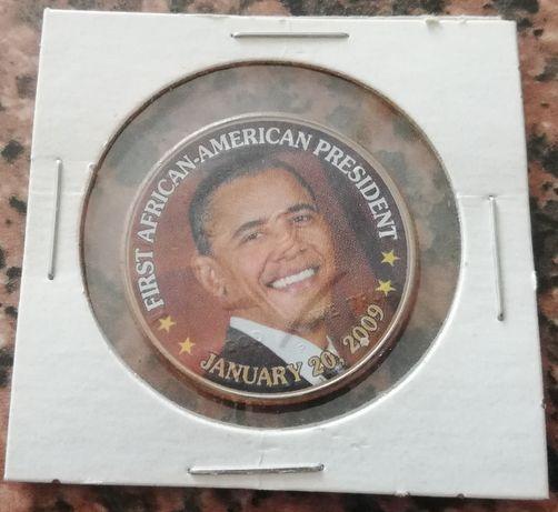 moneta HALF DOLLAR 2001 P nadruk kolor OBAMA pół dolara 1/2 dolar