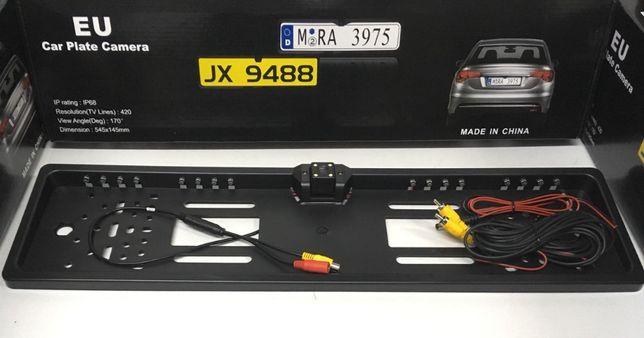 Авто-рамка на номер с камерой заднего вида