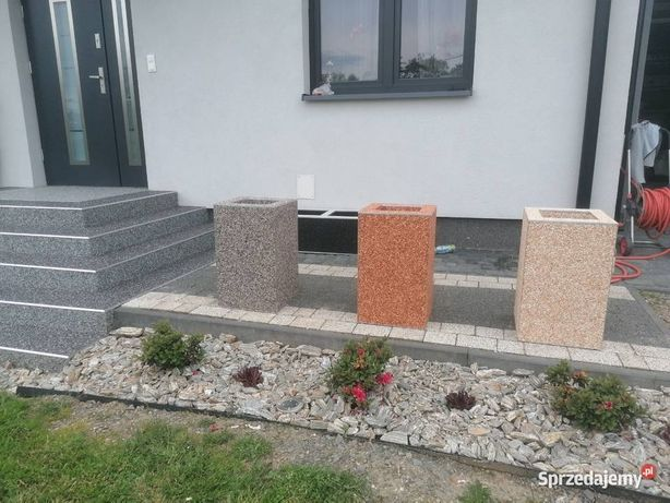 Doniczki donice betonowe kamienny dywan