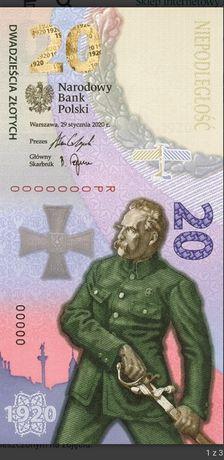 Banknot kolekcjonerski 20zł Bitwa Warszawska 2020 nr.8887