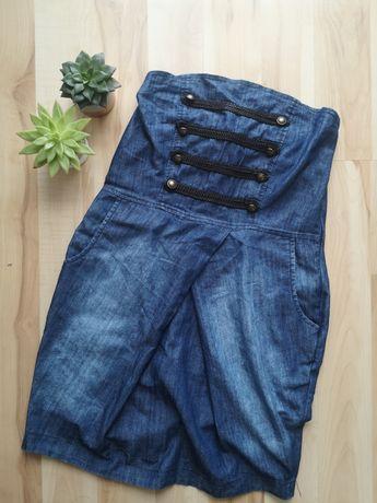 sukienka bez ramiączek amisu jeansowa