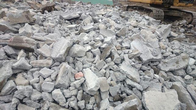 Oddam za darmo gruz betonowy z rozbiórki