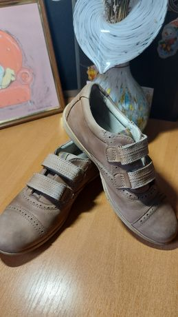 Обувь для девочки, ботинки 33 р-р, туфли, детские, ессо, натуральные
