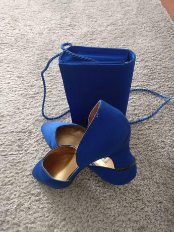 Sapatos e Carteira de cetim