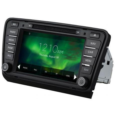 Auto Rádio GPS DVD Bluetooth Skoda Octavia A7 2013 a 2018