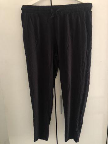 Cienkie czarne spodnie damskie xxl 44/46