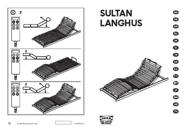 Łóżko sterowane pilotem + materac IKEA