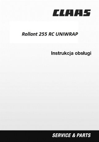Instrukcja obsługi Claas Rollant 255 RC UNIWRAP [PL]