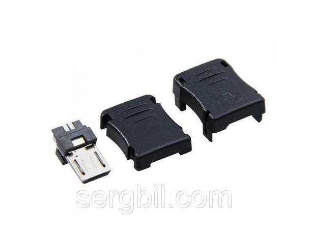 Разъём micro USB 5 контактов разборный 5шт