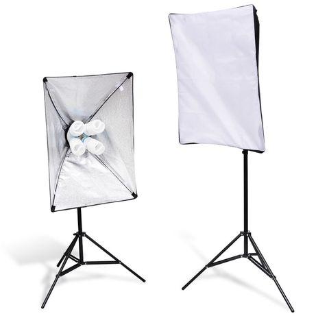 Хит продаж ! Софтбокс 50×70 на 4 лампы + стойка 2,2м + лампы