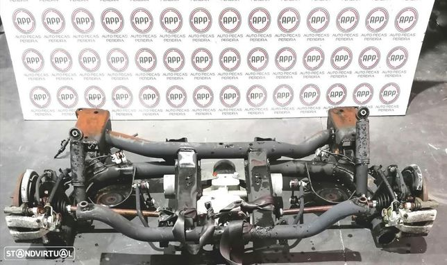 Mecânica traseira Fiat Panda 4X4 1.3 MJET de 2007.Charriot, deferêncial, mangas, transmissões..