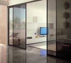 Межкомнатные двери и перегородки из стекла