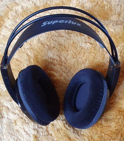 Superlux HD681 EVO słuchawki wokółuszne nauszne studyjne półotwarte