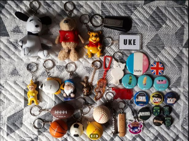 Crachás e Porta-chaves (preço unitário)