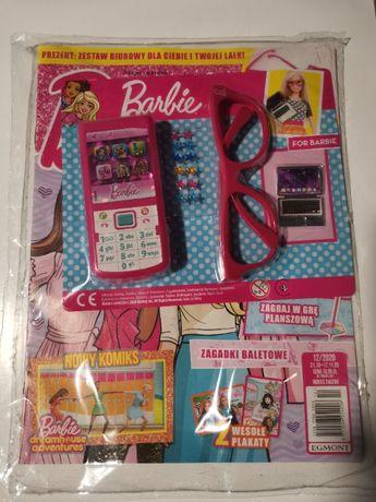 Magazyn Barbie nr 12 2020 - nowy, gadżety (telefon, okulary, gwiazdki)