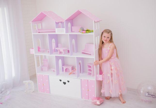 Большой кукольный домик для девочки