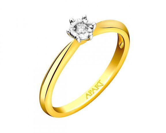 Pierścionek zaręczynowy Apart z brylantem, rozmiar 16