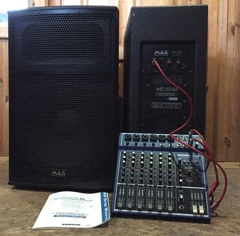 Продаю мощную звуковую аппаратуру MAG MD 554A в отличном состоянии