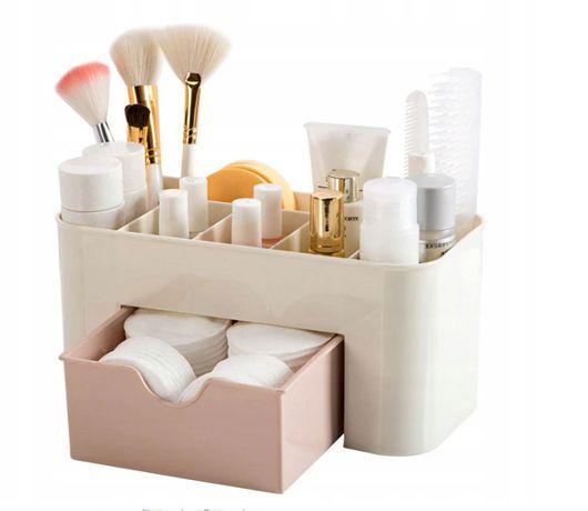 SZKATUŁKA ORGANIZER na kosmetyki BIŻUTERIĘ ZEGARKI praktyczny stylowy