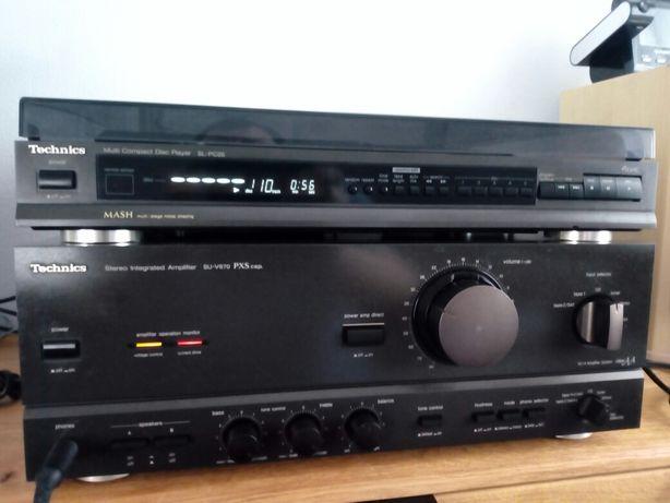 Odtwarzacz CD,karuzela,zmieniarka Techincs SL-PC25,wzmacniacz.