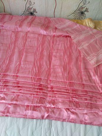 Ткань портьерная - золото, розовый