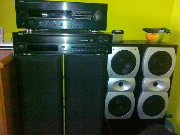 Amplituner Yamaha głośniki Cat głośniki Magnat zmieniarka cd 5 płyt