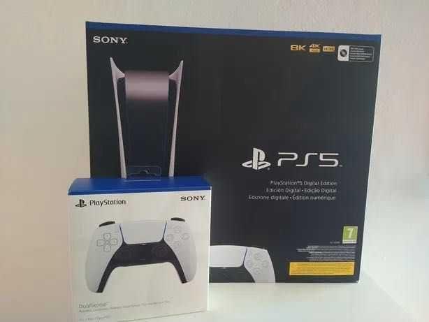 [NOVA] Ps5 Digital + 2 Comandos Dualsense + 20 Jogos playstation 5