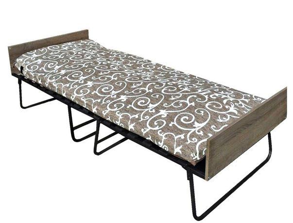 Раскладушка. Раскладная кровать с матрасом.