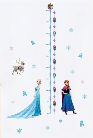 Наклейка в детскую Ростомер принцесса Эльза и Анна