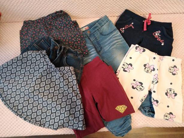 Paczka ubrań dla dziewczynki rozm. 98-110