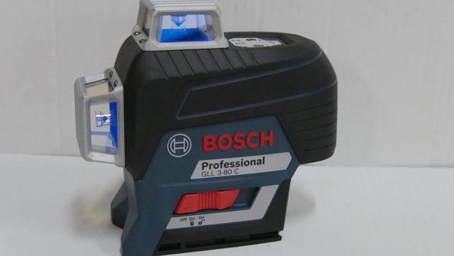 BOSCH GLL 3-80 C laser krzyzowy plaszczyznowy niwelator