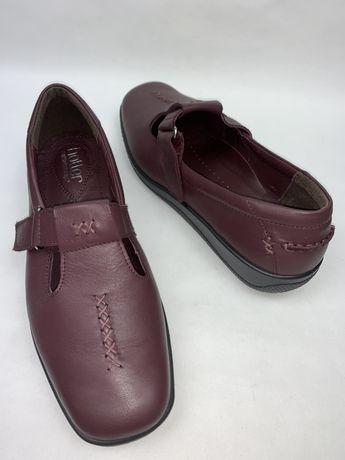 Англия! Женские кожаные фирменные туфли Hotter. Размер 41. Стелька 26.