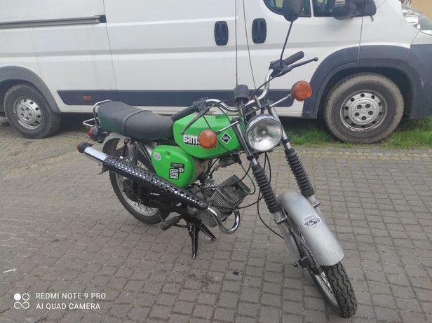 Simson S51 enduro  zamiana zamienię na motocykl quad cross prl auto