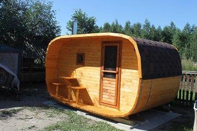 Sauna ogrodowa 4x2.5 m agroturystyka