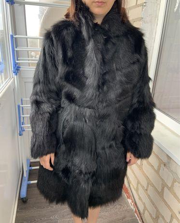 Шуба женская из меха козла, натурального, шилось на заказ