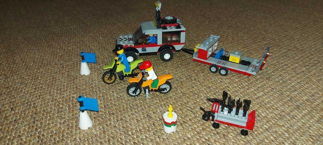 Jipe reboque lego city + 2 motas