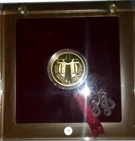 Unikatowy Medal Jan Paweł II - Papież Jan Paweł II i krzyż