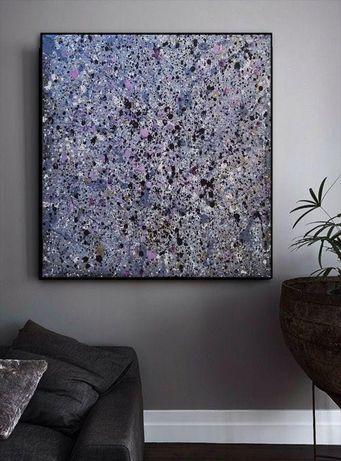 Ręcznie malowany elegancki OBRAZ akrylowy abstrakcja