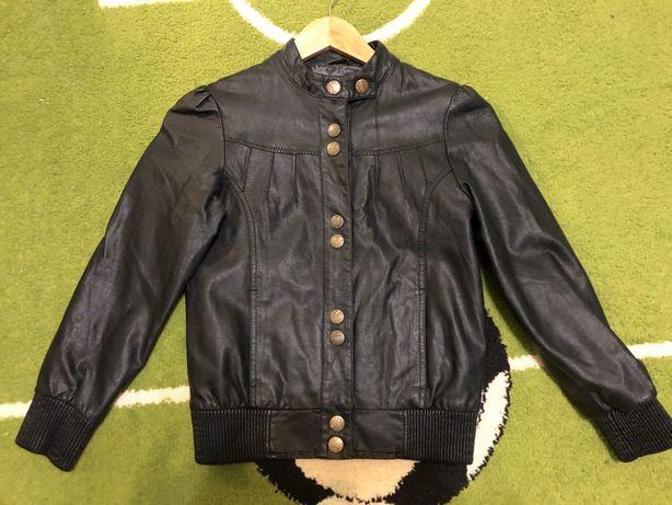 Кожаная куртка косуха на девочку 134-140 см