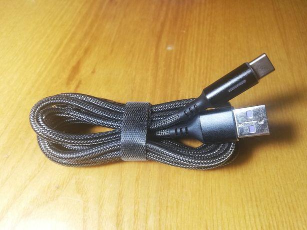 Зарядный кабель Type C в кевларовой оплетке 2m 5A