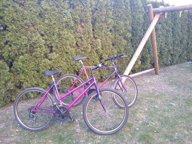 Rower górski dwa rowery damka męski